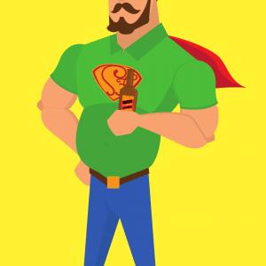 Vater, Rollenbilder, Superdad