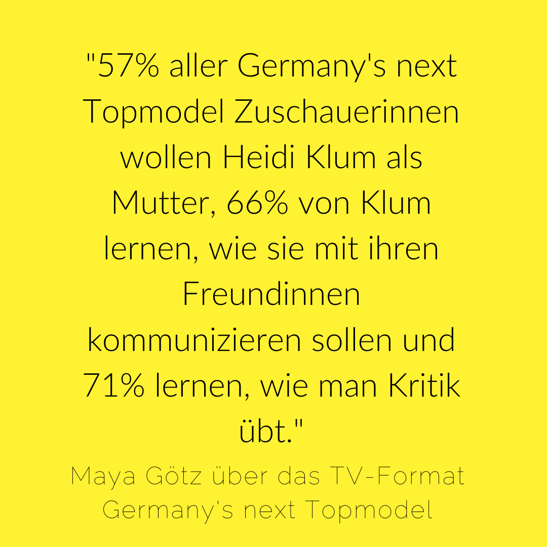Germanys next Topmodel Heidi Klum Vorbilder